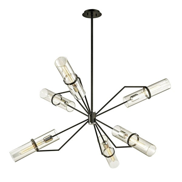 Troy Lighting Raef 50-inch Textured Black Chandelier