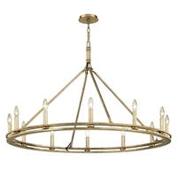 Troy Lighting Sutton 12-light Champagne Silver Leaf Chandelier