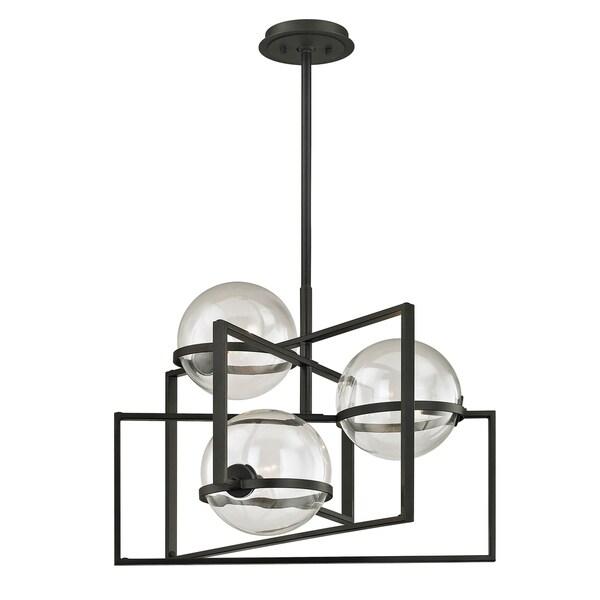 Troy Lighting Elliot 3-light Textured Black Pendant