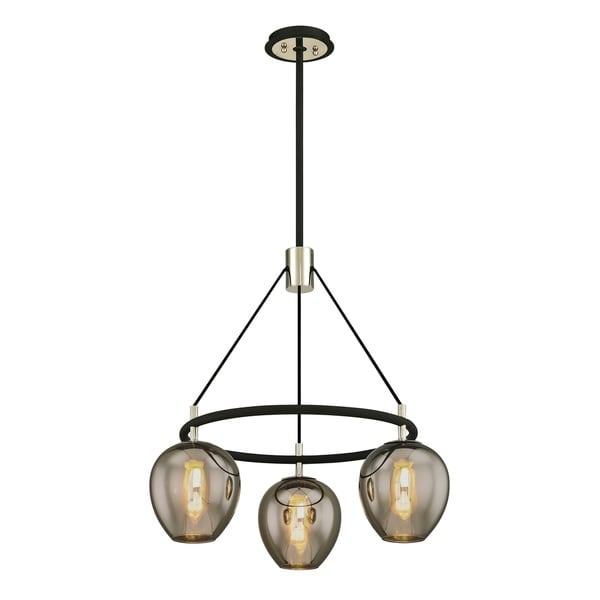 Troy Lighting Iliad 3-light Carbide Black Pendant