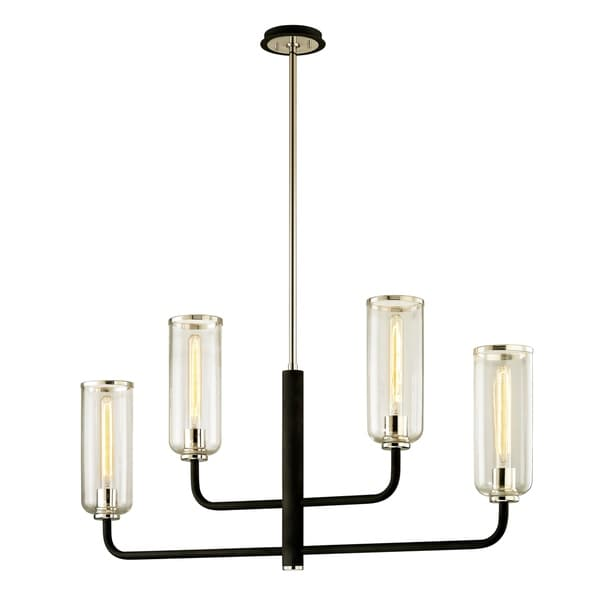 Troy Lighting Aeon 4-light Carbide Black Linear Pendant
