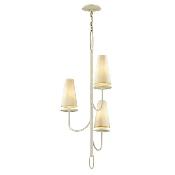 Troy Lighting Marcel 3-light Gesso White Chandelier