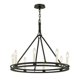 Troy Lighting Sutton 8-light Textured Black Chandelier