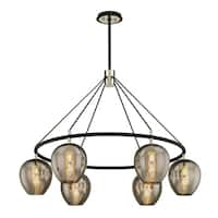 Troy Lighting Iliad 6-light Carbide Black Pendant