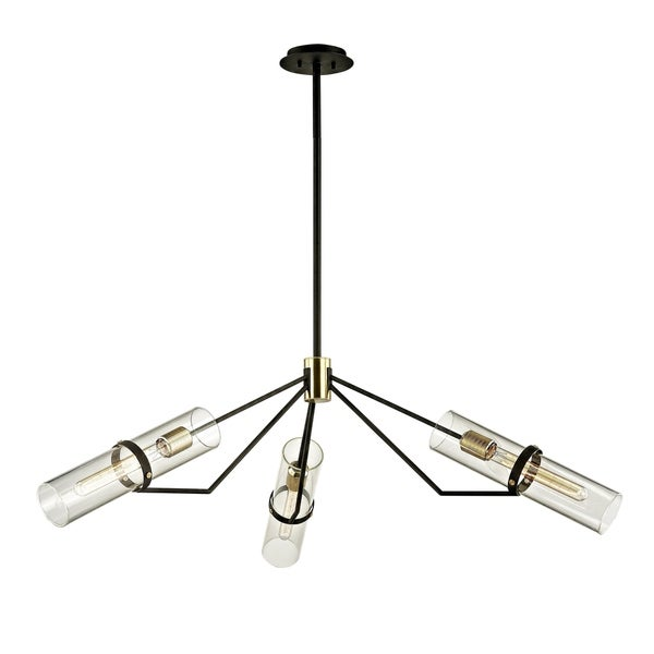 Troy Lighting Raef 3-light Textured Bronze Pendant