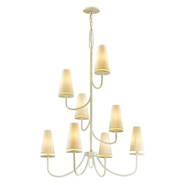 Troy Lighting Marcel 49-inch Gesso White Chandelier