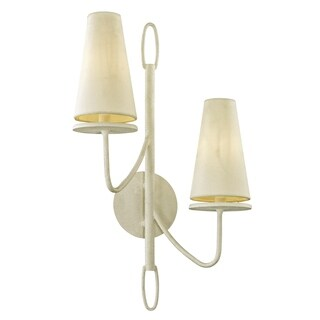 Troy Lighting Marcel 2-light Gesso White Wall Sconce