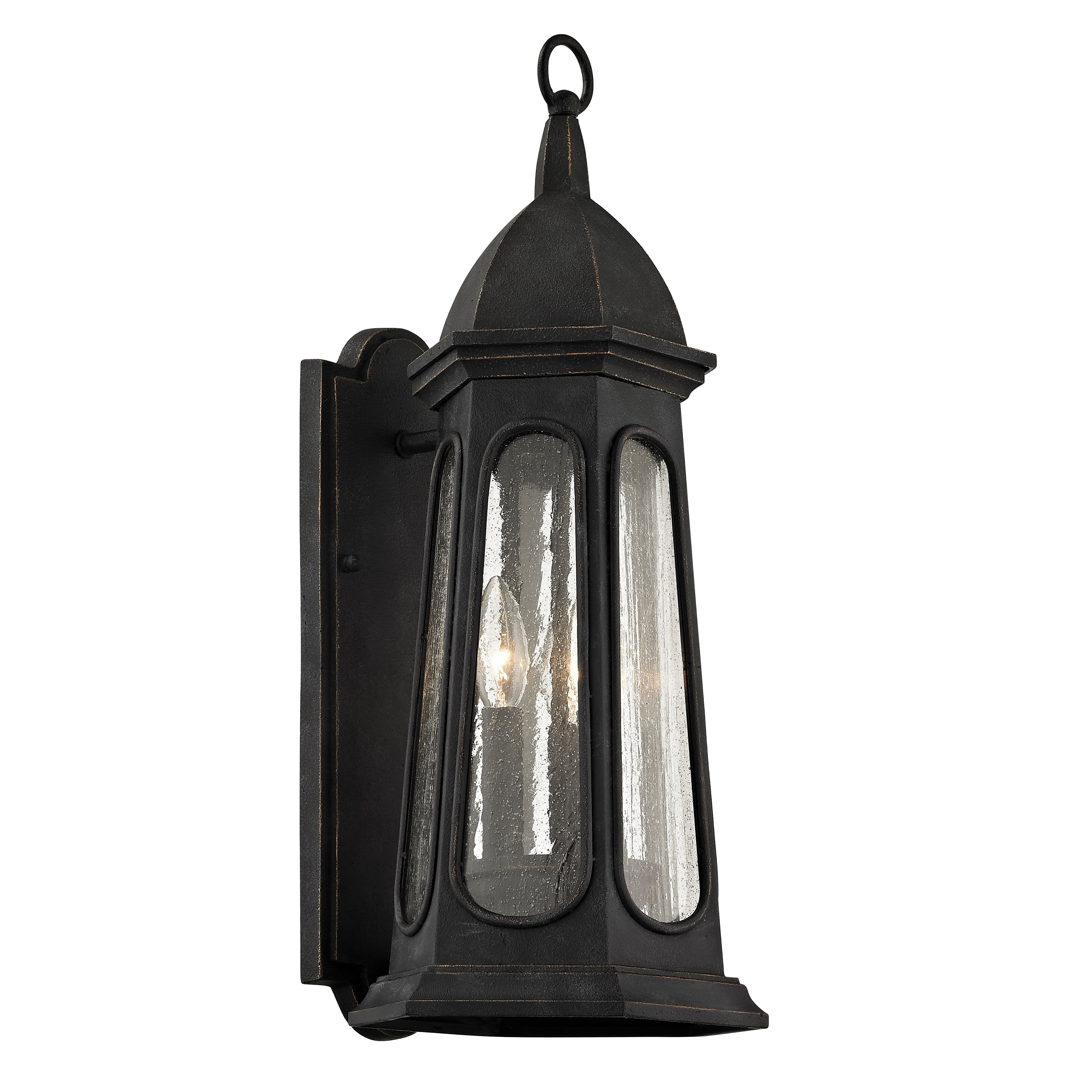 Troy Lighting Astor 3 Light Vintage Iron Outdoor Wall Sconce