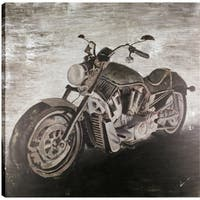 The Motorcycle, Contemporary Art,  Fresh Printed Canvas Wall Art Décor, Gallery Wrapped 36X36 Ready to Hang, Artmaison.ca