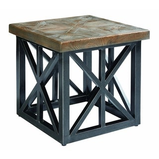 """A.R.T. Furniture Arch Salvage Outdoor - Oliver 22"""" End Table"""