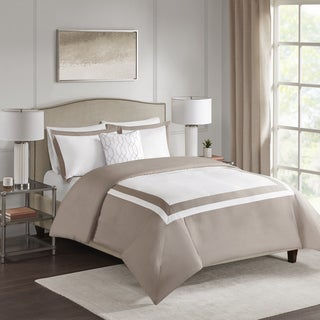 510 Design Hanson Tan 4-piece Duvet Cover Set