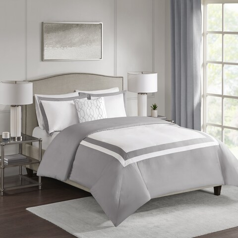 510 Design Hanson Grey 4-piece Duvet Cover Set