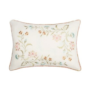Nostalgia Home Medford Embroidered Decorative Pillow