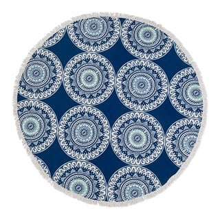 Seaside Living Medallion Round Beach Towel