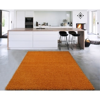 """Sweethome Stores Cozy Solid Color Shag Area Rug (6'7"""" x 9'3"""")"""
