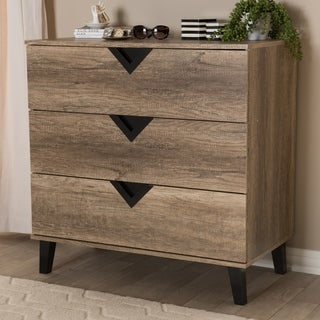 Carson Carrington Dragor Modern Light Brown Wood 3-drawer Chest