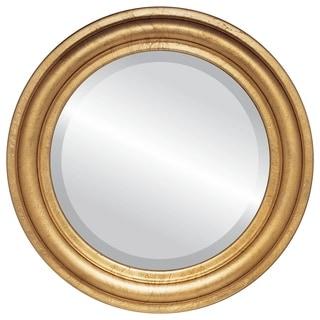 Philadelphia Framed Round Mirror in Gold Leaf