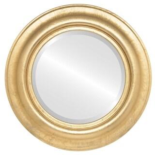 Lancaster Framed Round Mirror in Gold Leaf