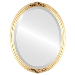 Contessa Framed Oval Mirror in Gold Leaf