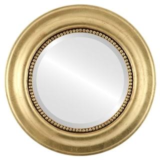Heritage Framed Round Mirror in Gold Leaf
