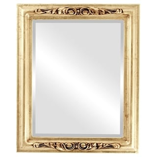 Florence Framed Rectangle Mirror in Gold Leaf
