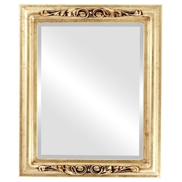 Florence Framed Rectangle Mirror in Gold Leaf