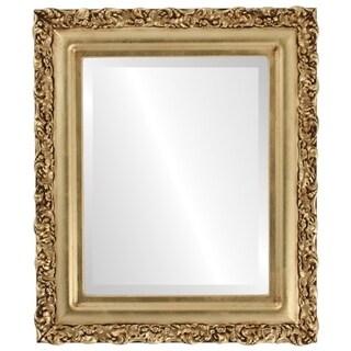 Venice Framed Round Mirror in Gold Leaf