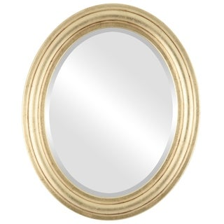 Philadelphia Framed Oval Mirror in Gold Leaf