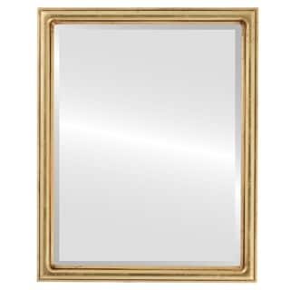 Saratoga Framed Rectangle Mirror in Gold Leaf
