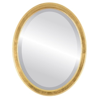 Toronto Framed Oval Mirror in Gold Leaf