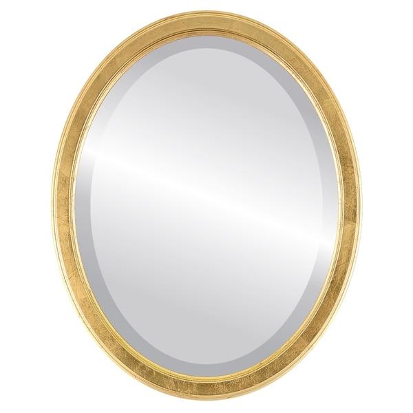 Toronto Framed Oval Mirror in Gold Leaf