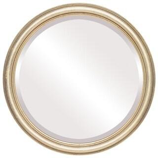 Saratoga Framed Round Mirror in Gold Leaf