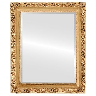 Rome Framed Rectangle Mirror in Gold Leaf