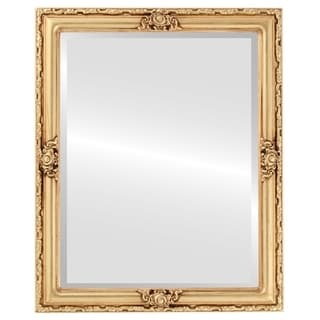 Jefferson Framed Rectangle Mirror in Gold Leaf
