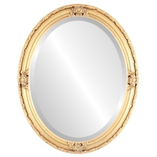 Jefferson Framed Oval Mirror in Gold Leaf