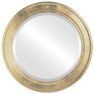 Wright Framed Round Mirror in Gold Leaf