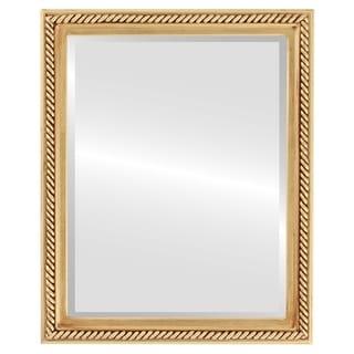 Santa Fe Framed Rectangle Mirror in Gold Leaf