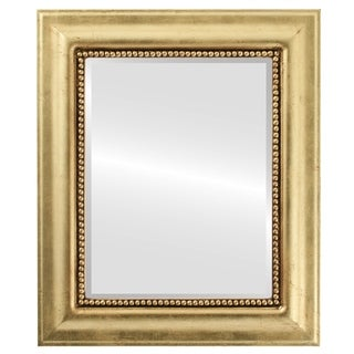 Heritage Framed Rectangle Mirror in Gold Leaf