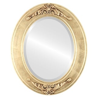 Ramino Framed Oval Mirror in Gold Leaf