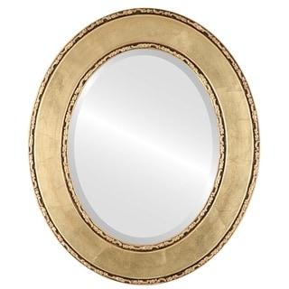 Paris Framed Oval Mirror in Gold Leaf