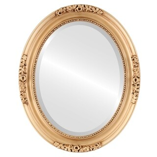 Versailles Framed Oval Mirror in Gold Paint