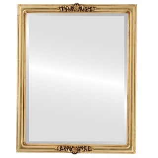 Contessa Framed Rectangle Mirror in Gold Leaf