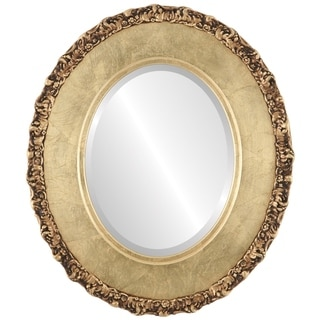 Williamsburg Framed Oval Mirror in Gold Leaf