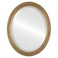 Santa Fe Framed Oval Mirror in Gold Leaf