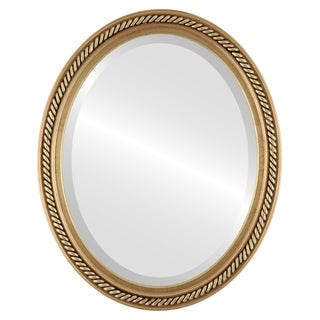 Santa Fe Framed Oval Mirror in Gold Leaf (More options available)