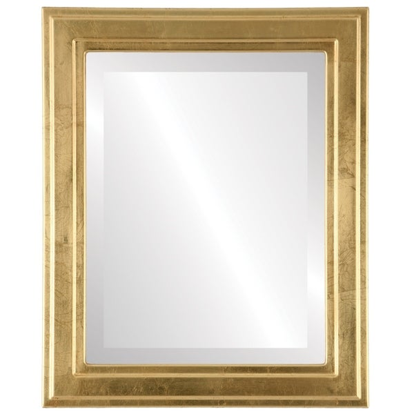 Wright Framed Rectangle Mirror in Gold Leaf