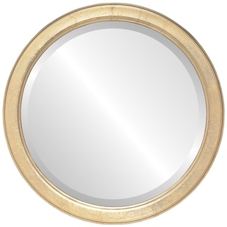 Toronto Framed Round Mirror in Gold Leaf