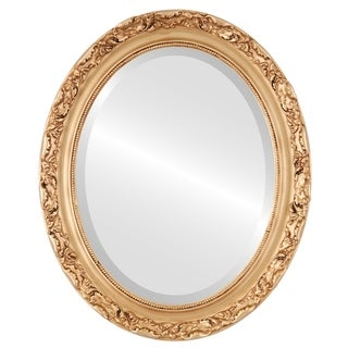 Rome Framed Oval Mirror in Gold Paint