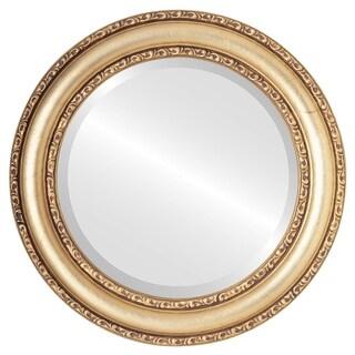 Dorset Framed Round Mirror in Gold Leaf