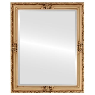 Jefferson Framed Rectangle Mirror in Gold Paint